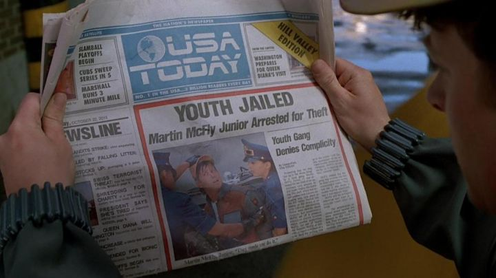 USA Today Newspaper of Marty McFly (Michael J. Fox) as seen on Back to The Future Part II - Movie Outfits and Products