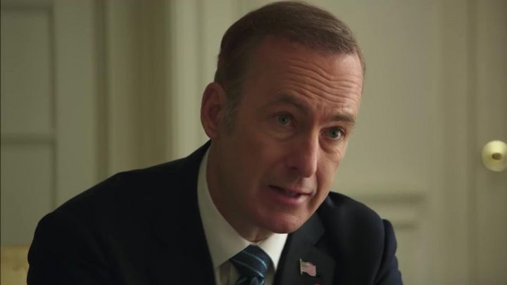 United States Waving American Flag Pin worn by President Chambers (Bob Odenkirk) in Long Shot Movie