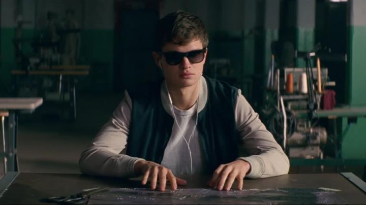 Varsity Jacket worn by Baby (Ansel Elgort) as seen in Baby Driver - Movie Outfits and Products