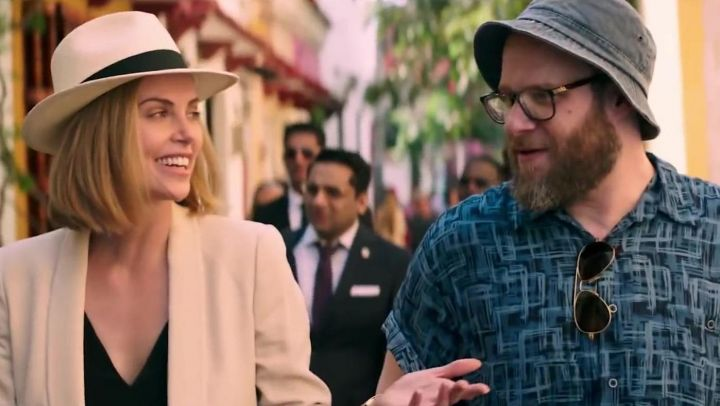 White Fedora Hat worn by Charlotte Field (Charlize Theron) in Long Shot Movie