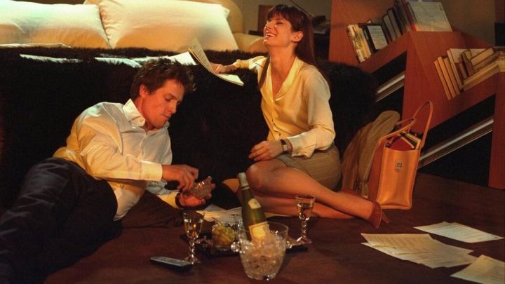 White Silk Blouse worn by Lucy Kelson (Sandra Bullock) in Two Weeks Notice Movie