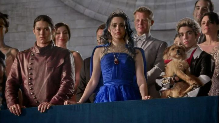 Wig with tiara, Evie (Sofia Carson) in the Descendants - Movie Outfits and Products