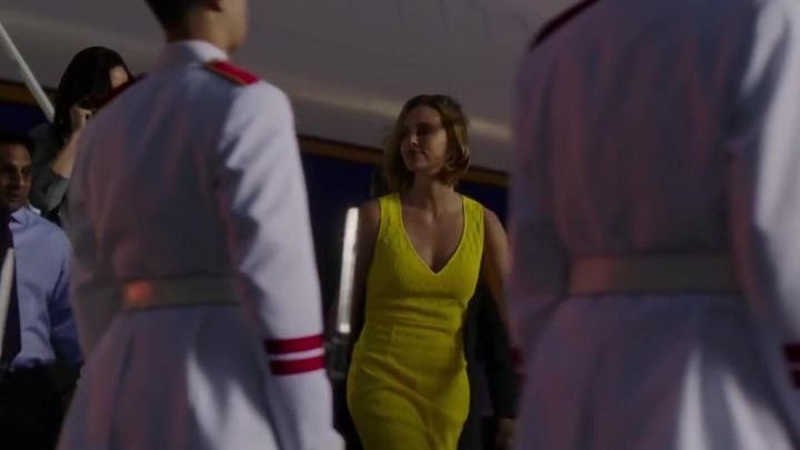 Yellow Dress worn by Charlotte Field (Charlize Theron) in Long Shot Movie