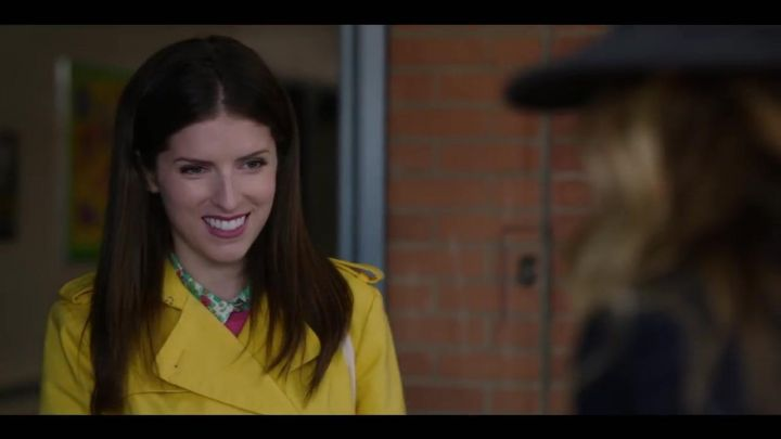 Yellow trenchcoat worn by Stephanie Ward (Anna Kendrick) as seen in A simple favor Movie