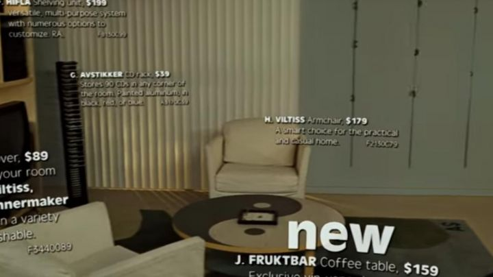 Ying Yang Furni coffee table as seen in Ikea scene of Fight Club movie