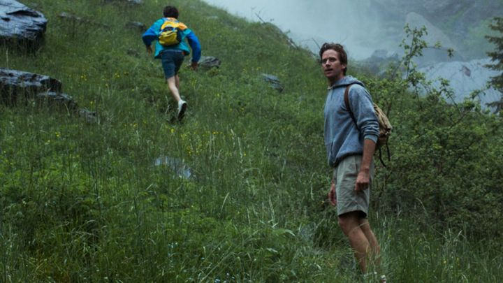 backpack worn by Oliver (Armie Hammer) in Call Me by Your Name movie