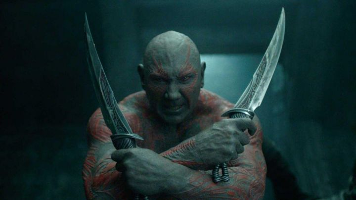 Fashion Trends 2021: daggers of Drax the Drestructeur (Dave Bautista) in Guardians of the Galaxy Vol. 2