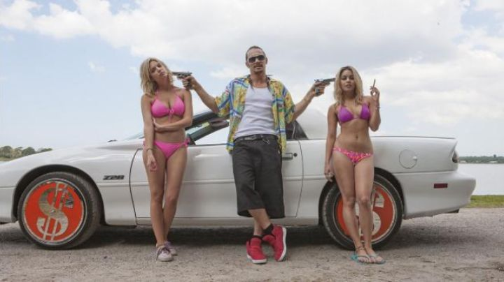 sneakers high tops red of James Franco in Spring Breakers - Movie Outfits and Products