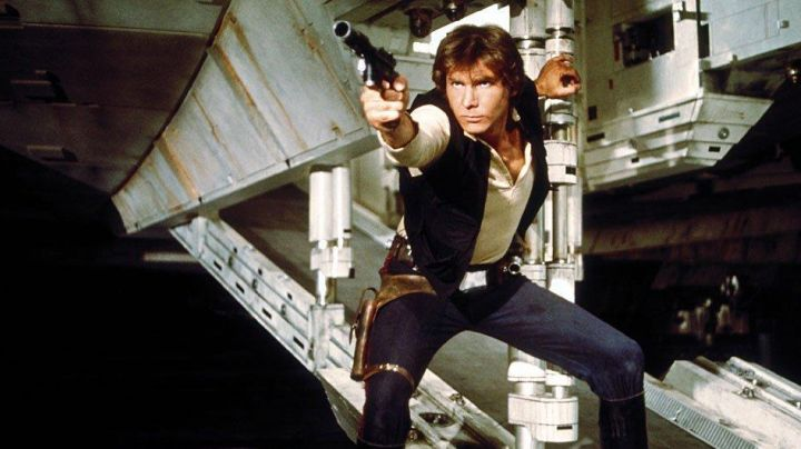 Fashion Trends 2021: stripe for the trousers of Han Solo (Harrison Ford) in Star Wars IV : A new hope