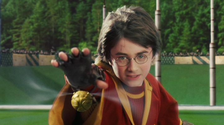 the Bright Gold coveted by Harry Potter (Daniel Radcliffe) in Harry Potter and the sorcerer's stone movie