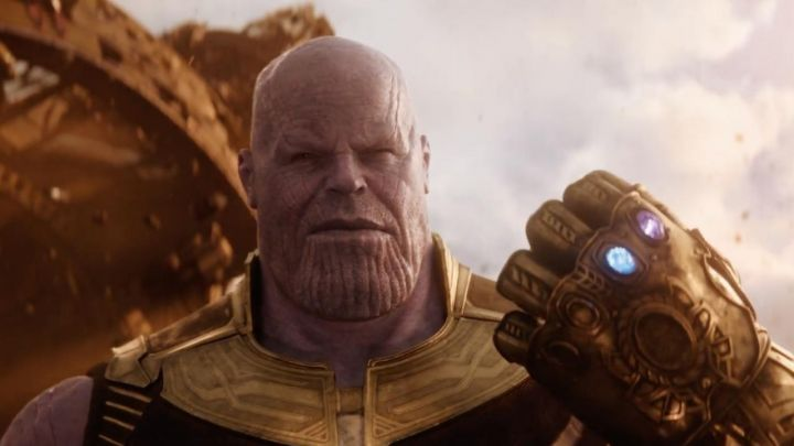 the ant in the Infinity of Thanos (Josh Brolin) in Avengers : Infinity War Movie