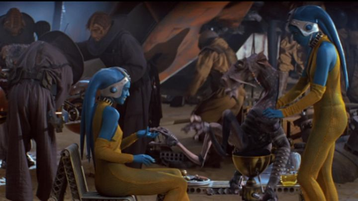 the cones of the ears of twin Twi'lek in Star Wars: Episode I - The phantom menace - Movie Outfits and Products