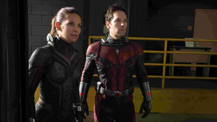 the costume of the wasp Hope Van Dyne (Evangeline Lilly) in the Ant-Man and the Wasp Movie