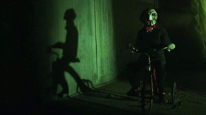 the doll on the tricycle from the saga Saw - Movie Outfits and Products
