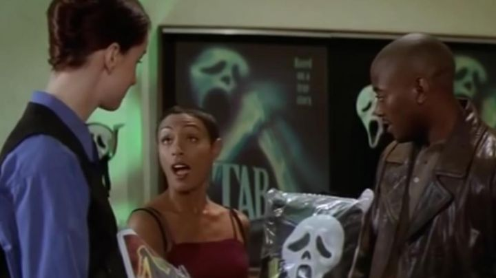 the poster of the movie Stab in Scream 2 - Movie Outfits and Products