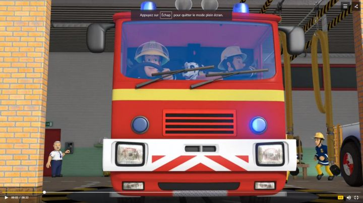 the truck of fireman Sam in The New adventures of Sam the fireman - Movie Outfits and Products