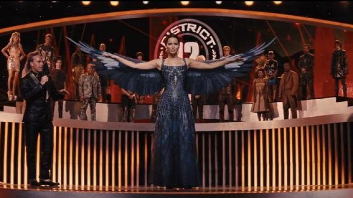 the wings articulated Katniss Everdeen (Jennifer Lawrence) in Hunger Games : The Kindling Movie