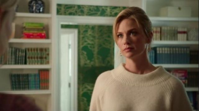 3.1 Phillip Lim 3/4-Sleeve Lofty Rib Alpaca-Blend Pullover Sweater outfit worn by Lizbeth Sloan (January Jones) in The Politician Season 1 Episode 7 - TV Show Outfits and Products