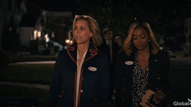 A.L.C. Black Leopard Jumpsuit outfit worn by Daisy Grant (Patina Miller) in Madam Secretary Season 06 Episode 05 - TV Show Outfits and Products
