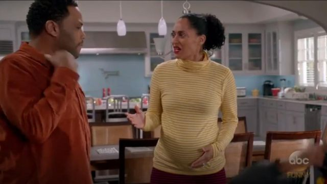 A.L.C. Delmar High Waist Knit Pencil Skirt outfit worn by Rainbow Johnson (Tracee Ellis Ross) in black-ish (Season 03 Episode 15) - TV Show Outfits and Products