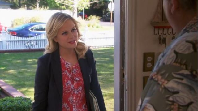 A.L.C. Molly blouse outfit worn by Leslie Knope (Amy Poehler) in Parks and Recreation (S05E20) - TV Show Outfits and Products