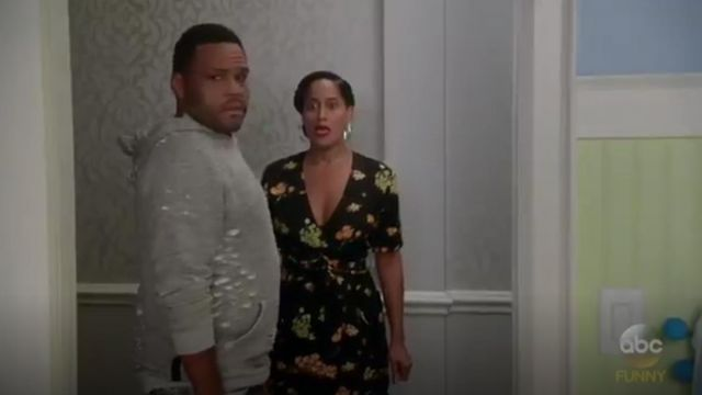 A.L.C. Stephanie Silk Dress outfit worn by Rainbow Johnson (Tracee Ellis Ross) in black-ish (Season03 Episode06) - TV Show Outfits and Products