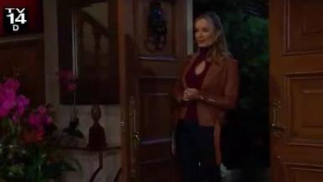 A.l.c. Matera Cutout Turtleneck Sweater outfit worn by Donna Logan (Jennifer Gareis) as seen on The Bold and the Beautiful November 7, 2019 - TV Show Outfits and Products