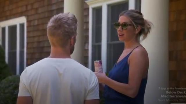 AMANDA UPRICHARD Lowell Ruched Jumpsuit outfit worn by Stassi Schroeder in Summer House (Season 03 Episode 13) - TV Show Outfits and Products