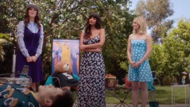 AQUA Button-Front Floral Maxi Dress outfit worn by Tahani Al-Jamil (Jameela Jamil) in The Good Place Season 4 Episode 8 - TV Show Outfits and Products