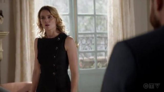 Adam Lippes Asymmetric wrap effect denim dress outfit worn by Annie (Susan Misner) in God Friended Me Season 2 Episode 2 - TV Show Outfits and Products