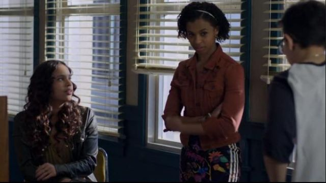 Adidas Black Poisonous Garden Dress outfit worn by Ani (Grace Saif) in 13 Reasons Why (S03E04)