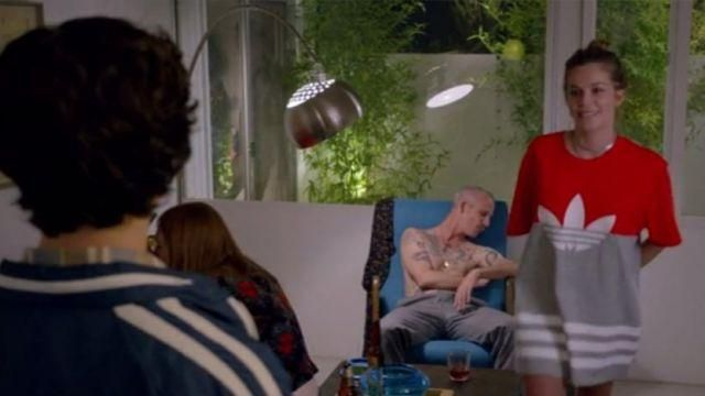 Fashion Trends 2021: Adidas t-shirt red and gray Mickey Dobbs (Gillian Jacobs) seen in Love Season 1 Episode 4