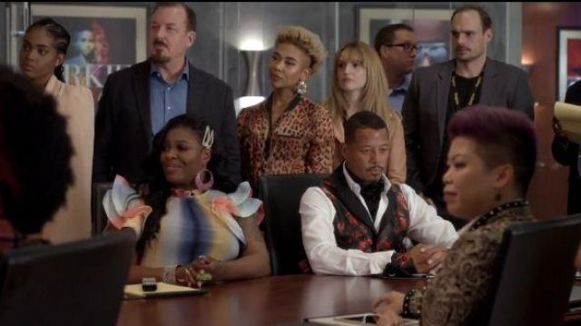 Akira Rainbow Striped Blouse outfit worn by Porsha (Ta'Rhonda Jones) in Empire Season 06 Episode 06 - TV Show Outfits and Products