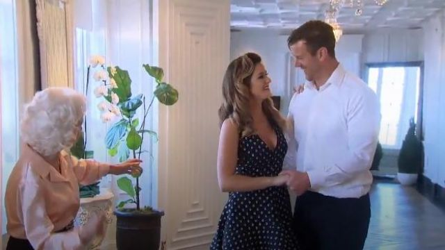 Alexis Aria Starlight High-Low Dress outfit worn by JoJo Fletcher in The Bachelorette (S12E03) - TV Show Outfits and Products