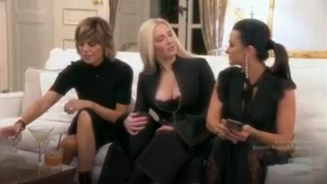Alexis Gislane Tie Neck Jumpsuit outfit worn by Herself (Kyle Richards) in The Real Housewives of Beverly Hills (Season9 Episode18) - TV Show Outfits and Products