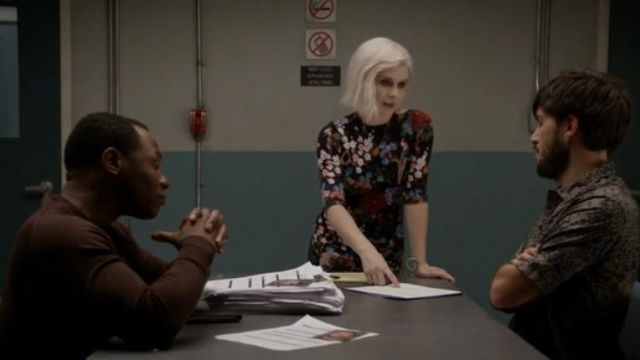 Alice + Olivia Delora Dress outfit worn by Olivia Moore (Rose McIver) in iZombie (S05E07) - TV Show Outfits and Products