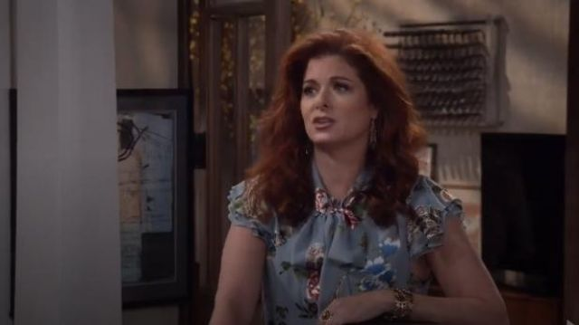 Alice + Olivia Leslie Maxi Dress outfit worn by Grace Adler (Debra Messing) in Will & Grace (S01E10) - TV Show Outfits and Products