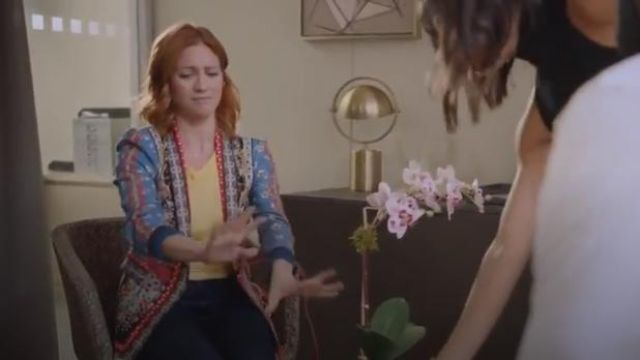 Alice + Olivia Macey Blazer outfit worn by Julia Bechley (Brittany Snow) in Almost Family Season 1 Episode 2 - TV Show Outfits and Products
