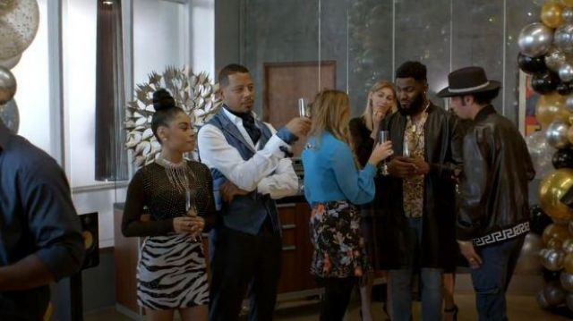 Alice + Olivia White and Black Sequin Zebra Mini Skirt outfit worn by Treasure (Katlynn Simone) in Empire Season 06 Episode 06 - TV Show Outfits and Products