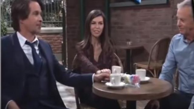 All Saints Adeliza Shirt outfit worn by Anna Devane (Finola Hughes) as seen in General Hospital April 26, 2019 - TV Show Outfits and Products