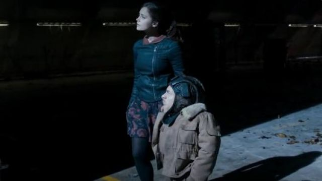 All Saints Axelle denim jacket outfit seen on Clara (Jenna Coleman) in Doctor Who (S07E12) - TV Show Outfits and Products