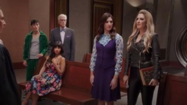 All Saints Black Conroy Jacket outfit worn by Janet (D'Arcy Carden) in The Good Place Season 4 Episode 8 - TV Show Outfits and Products