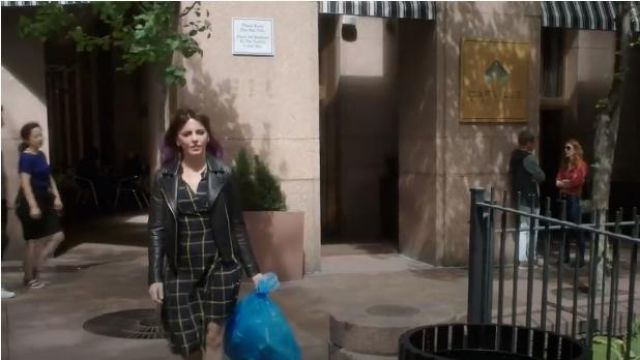 All Saints Dalby Black Leather Jacket outfit worn by Kitty Winter (Ophelia Lovibond) in Elementary (Season07 Episode01) - TV Show Outfits and Products