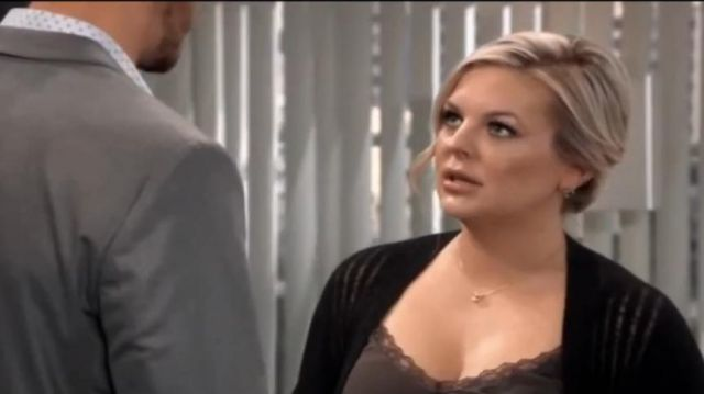 All Saints Mara Duster Cardigan outfit worn by Maxie Jones (Kirsten Storms) as seen on General Hospital October 10, 2019 - TV Show Outfits and Products