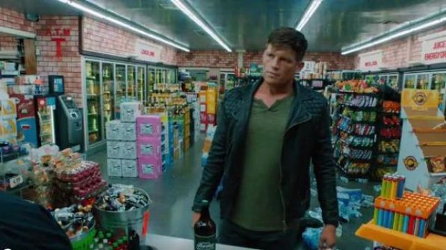 AllSaints Black suilted leather jacket outfit worn by Liam in NCIS: Los Angeles Season 11 Episode 02 - TV Show Outfits and Products