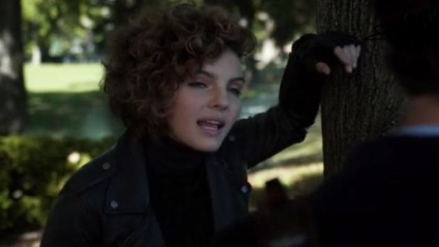 Allsaints Hyland Leather Biker Jacket. outfit worn by Selina Kyle (Camren Bicondova) in Gotham (S02E10) - TV Show Outfits and Products