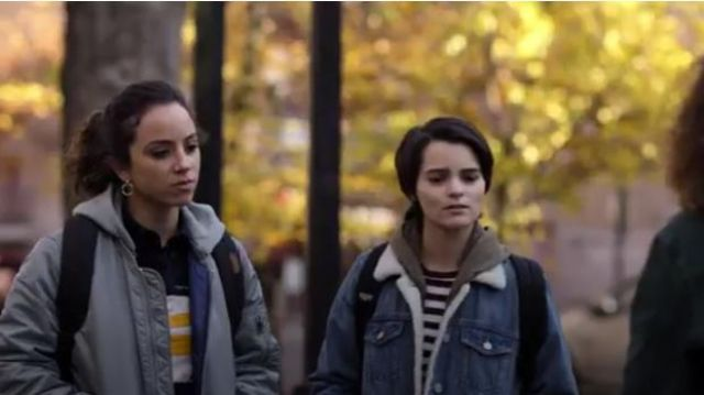 Alpha Industries Ma 1 Natus Hooded Bomber Jacket outfit worn by Moe Truax (Kiana Madeira) in Trinkets (S01E05) - TV Show Outfits and Products