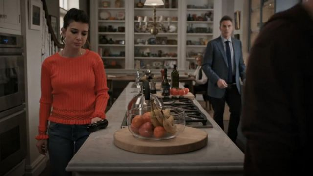 Altuzarra Malou Embroidered Ribbed Knit Sweater outfit worn by Alison McCord (Kathrine Herzer) in Madam Secretary (S05E19)