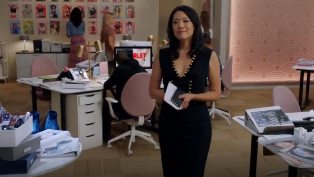 Altuzarra Sleeveless dress outfit worn by Emily Chang in The Bold Type (S03E06) - TV Show Outfits and Products