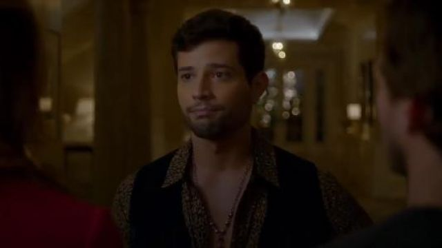 Amiri Leopard-Print Cotton-Cashmere Shirt outfit seen on Sam Jones (Rafael de la Fuente) in Dynasty (S01E18) - TV Show Outfits and Products